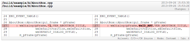 Exporting File Differences - - SourceGear DiffMerge
