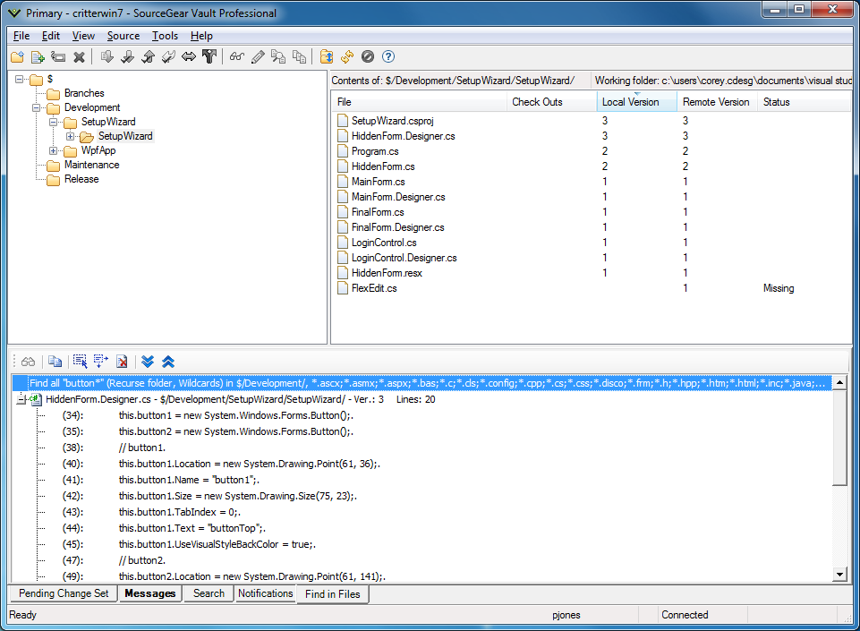 SourceGear   Vault   Screenshots