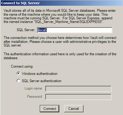 SourceGear | Vault | Server Installation