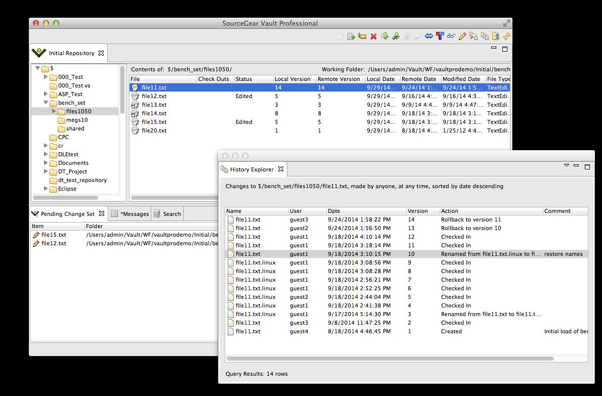 SourceGear | Vault | Toolset Integration and cross-platform
